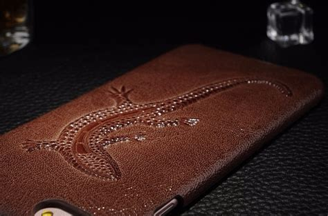 Luxury Leather With Iring Iphone 7 Hardcase Kulit Casing Iphone7 jual for iphone 6 6s luxury royal retro lizard leather