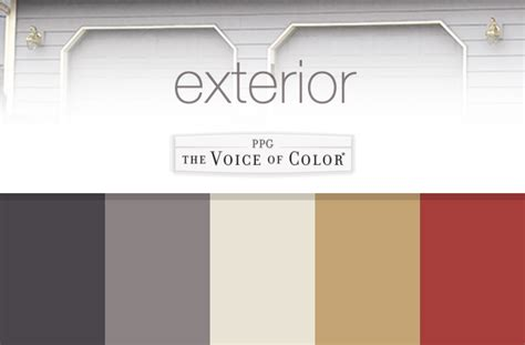 exterior paint colors collection ppgvoiceofcolor