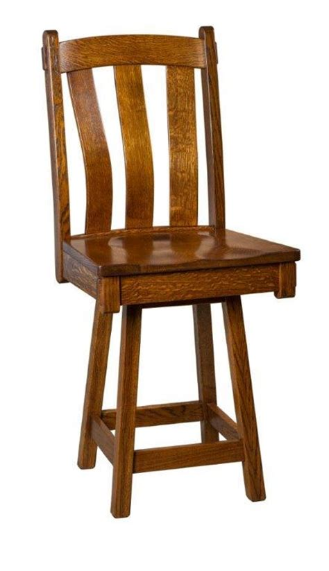 mission bar stools swivel amish olde century mission swivel bar stool