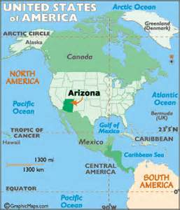 arizona map geography of arizona map of arizona