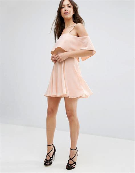Alarifnie Square Cold Shoulder Mini Dress asos asos cold shoulder mini dress at asos