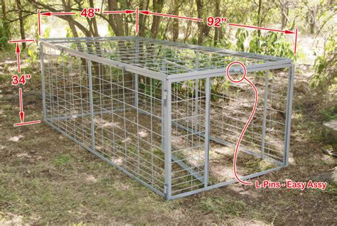 swing door hog trap plans swing gate hog trap