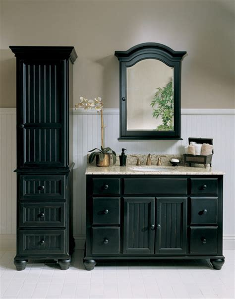 black bathroom cabinet ideas black is the new black abode