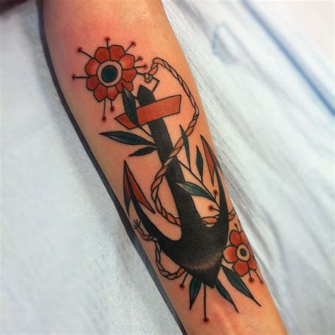 anchor with flowers tattoo anchor tattoos designs ideas and meaning tattoos for you
