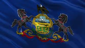 of pennsylvania colors pennsylvania flag usa state flag collection stock footage