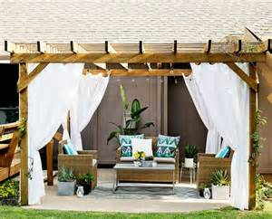 Outdoor Curtains For Pergola Outdoor Pergola Curtains Outside Ideas Diy