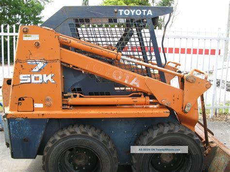 Toyota Skid Steer 1992 Toyota Sdk7 Skid Steer Diesel Bobcat 2567 Orig Hours