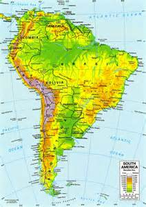 Latin America Physical Features Map by Latin America Physical Features Submited Images