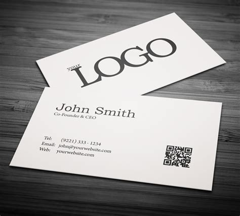 Minimalistic Business Card Template Free by Free Business Cards Psd Templates Print Ready Design
