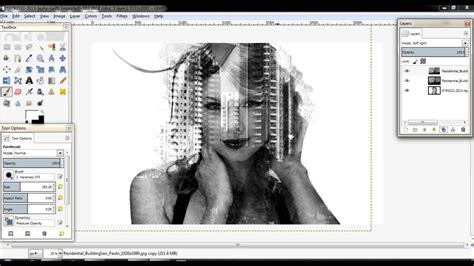 double exposure city tutorial double exposure tutorial in gimp malay version youtube
