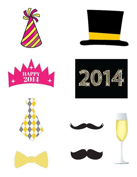 new year cut out new years photo booth props to cut out