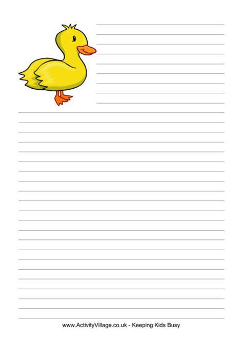 farm writing paper duck writing paper