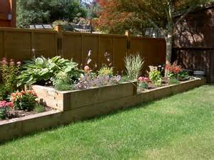 raised beds from new pine railway sleepers