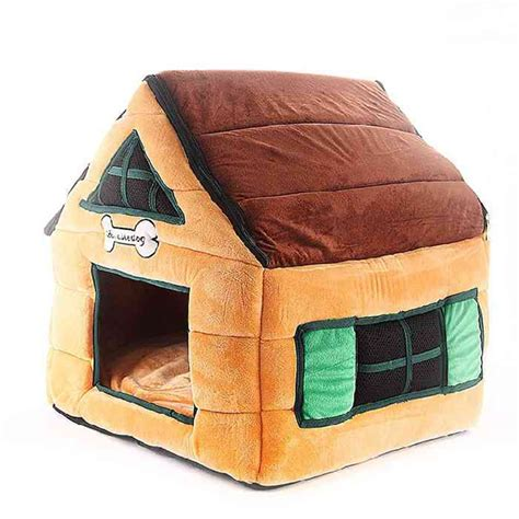 soft dog house bed cute cat dog pet bed house cottage soft luxury small dog puppy bed kennel nest indoor