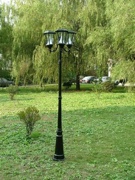 Solar Outdoor Light Post 7 Ft Solar L Post Light Gs 94