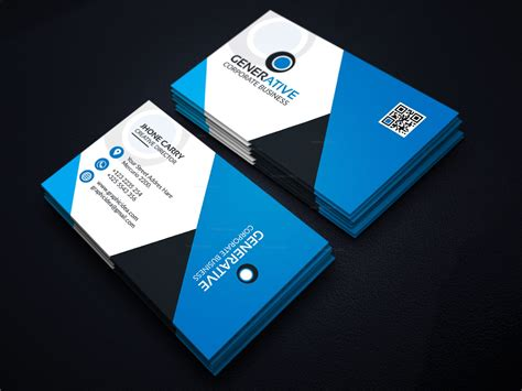 designer visiting cards templates eps sleek business card design template 001599 template