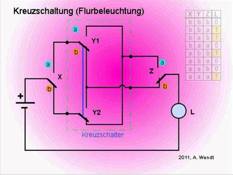 Kreuzschaltung Mit Bewegungsmelder by Kreuzschaltung Flurbeleuchtung Mit 3 Schaltern