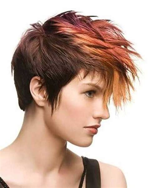 Different Colored Hairstyles by Best Hair Color For Pixie Cuts Pixie Cut 2015