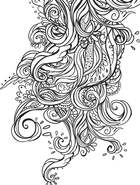 crazy patterns coloring pages 15 crazy busy coloring pages for adults page 5 of 16