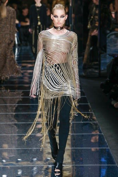 paris through a fashion dress see through see through dress choker necklace runway paris fashion week 2017 fashion