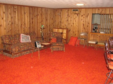 70s wood paneling in 60s and 70s having a finished basement meant having low
