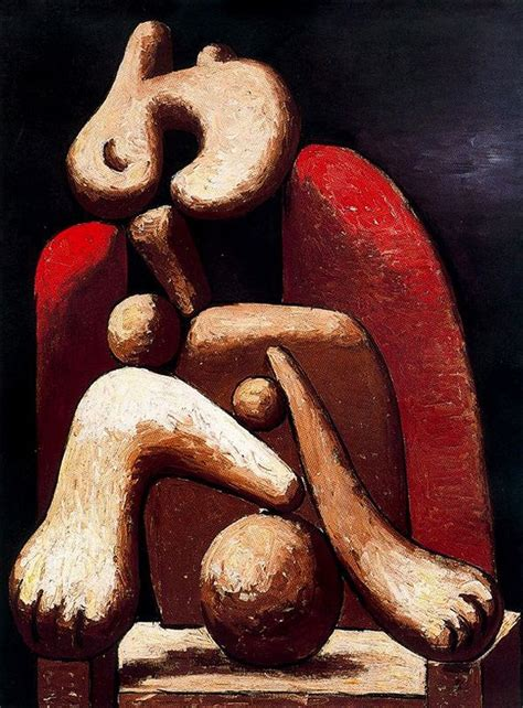 nude woman in red armchair woman in a red armchair 1932 by pablo picasso