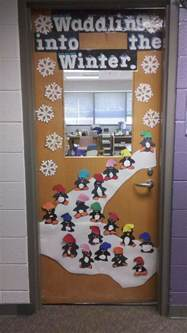 door decorations waddle into winter bulletin board fun pinterest winter and bulletin board