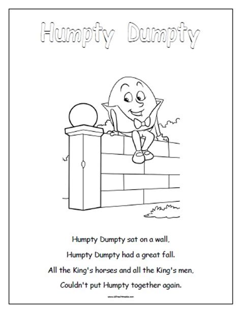 pretty humpty dumpty puzzle template images gt gt humpty