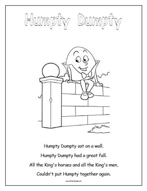 Spider Nursery Rhyme by Humpty Dumpty Free Printable Allfreeprintable Com