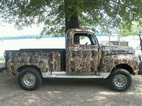 ford hunting truck vintage truck painted in camo pickup trucks pinterest