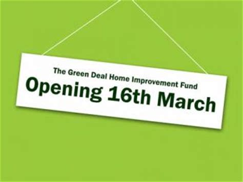 green deal home improvement fund sustainable energy services