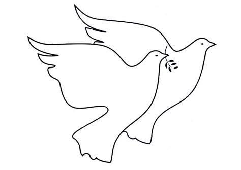 imagenes para dibujar de palomas coloriage colombes de la paix img 19467