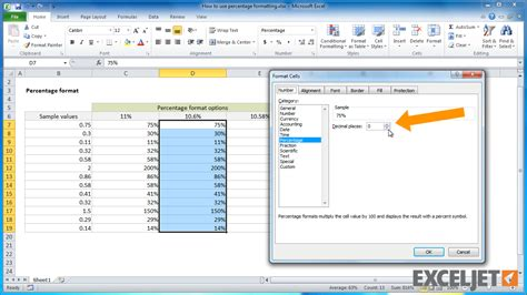 Format Excel Percentage | excel tutorial how to use percentage formatting in excel