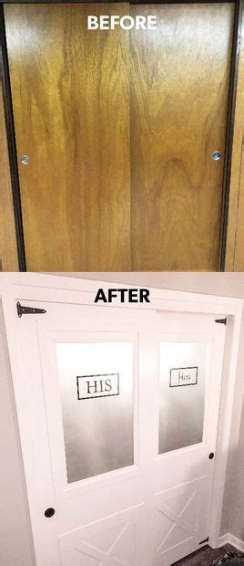 sliding farmhouse hollow core closet doors  frosted