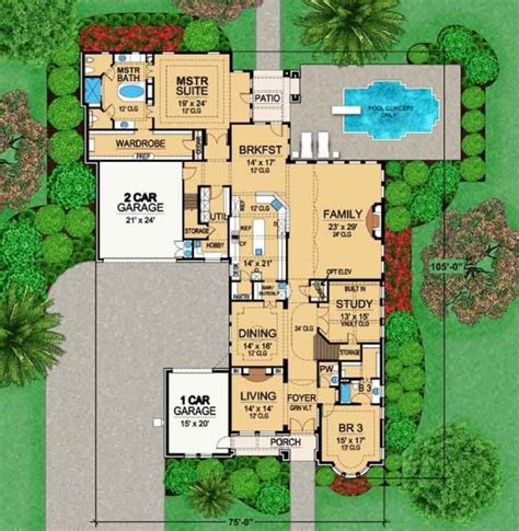 monster house plans com luxury style house plans 6651 square foot home 2 story