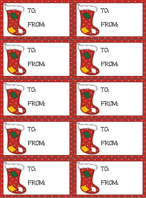 printable name tags for stockings recipe cards shopping lists gift tags and to do lists to