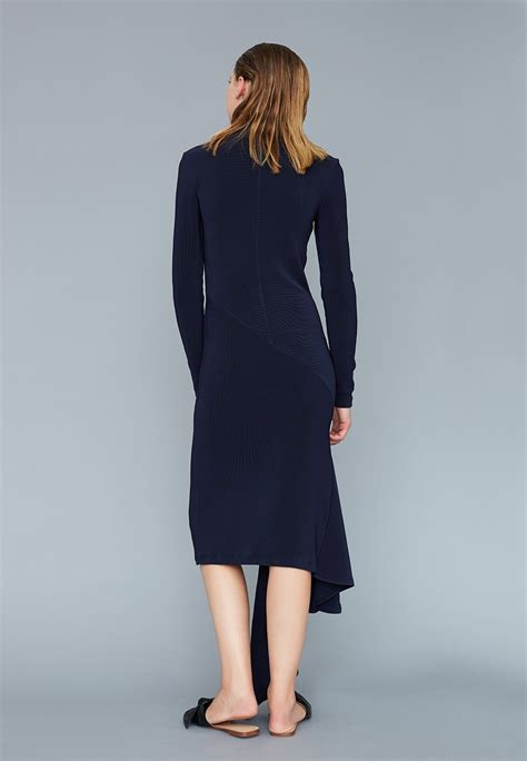 Simple Asimetris Knitt Dress knit asymmetric dress