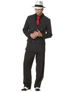 C631 mens mob boss 1920s gangster pinstripes halloween fancy dress up