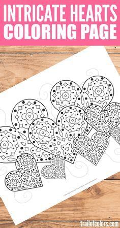 intricate heart coloring pages 20 free printable valentines adult coloring pages adult