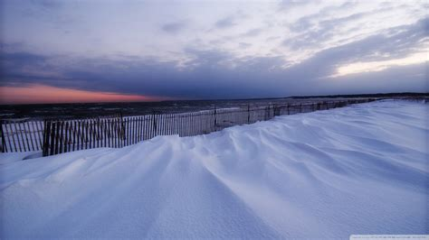 download snowy beach winter wallpaper 1920x1080