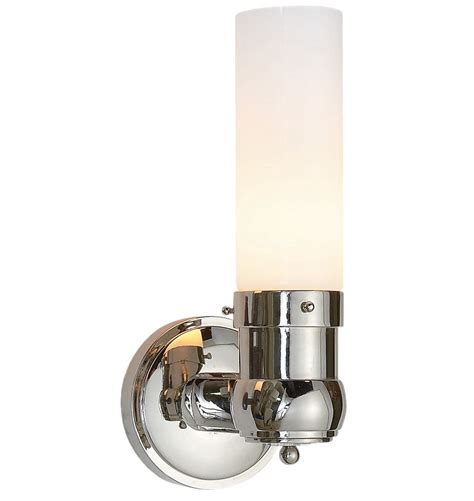 polished nickel bathroom sconces graydon single wall sconce rejuvenation