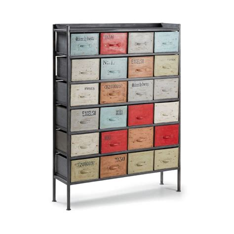 meuble m 233 tal style industriel 24 tiroirs by drawer fr