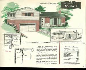 split level floor plans 1960s factory built houses 28 pages of lincoln homes from 1955