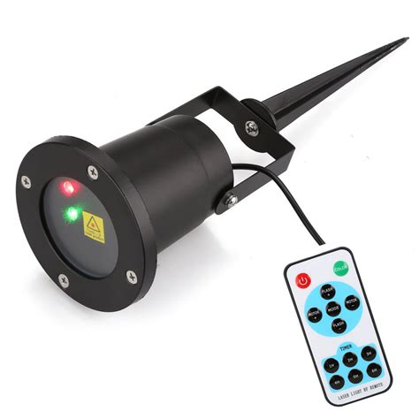 lightshow projection points of light deluxe with remote 98 programs remote control r g landscape laser projector outdoor