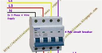 how to wire 4 pole circuit breaker for 3 phase 4 wire
