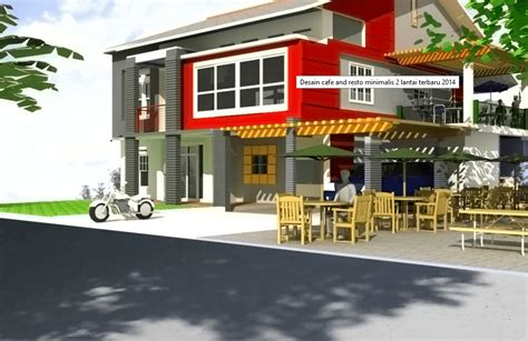 desain cafe minimalis desain cafe dan restoran minimalis 2 lantai png 938 215 609