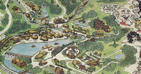 dogpatch usa map 1973 dogpatch usa arkansas theme park map poster capp
