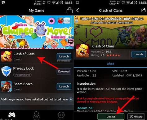 tutorial for copy player layout dead base search xmodgames mod baru coc otomatis cari ghost village dan copy base