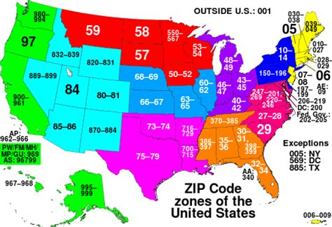 printable area code list numerical order list of zip code prefixes simple english wikipedia the
