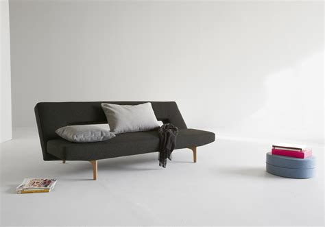 sofa bed no legs contemporary brown or grey fabric sofa bed with wood